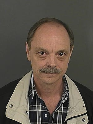 This undated photo provided by the Denver Police Department shows James Lowell Pennington.  Pennington was arrested Thursday, May 18, 2017,  on suspicion of first-degree assault causing serious bodily injury for using an Army medical kit to castrate a transgender woman without a medical license in a 90-minute procedure performed at the woman's apartment.  (Denver Police Department via AP)