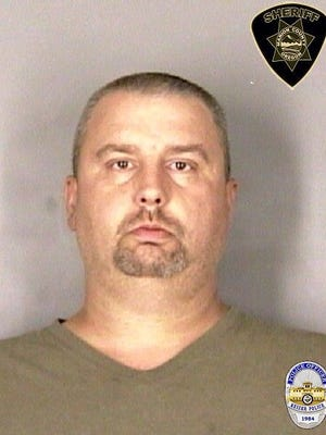 """Joseph Ahre, 42, of Hubbard, was arrested during an """"underage"""" sex sting in June."""