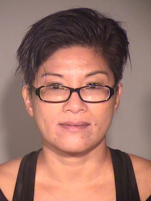 Angelie Gamboa, 49, was arrested on Aug. 7 in Thousand Oaks in connection with a stolen vehicle.