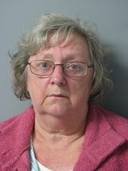 Geralyn Shelvey, 64, as shown by a mug shot following her arrest in October.