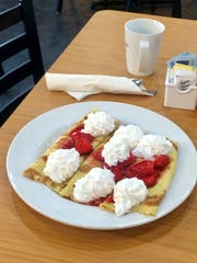 Strawberry crepes are one of the popular breakfast