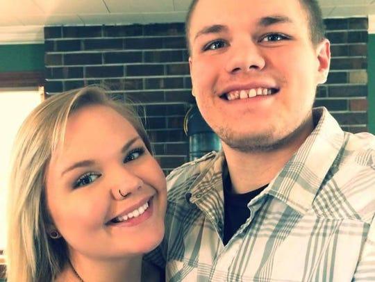 Brandon Eischens and his girlfriend.