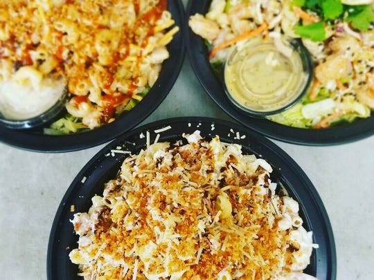 Pasta salad dishes at Mix N Mac in Middletown