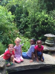 Jr. Master Gardeners enjoy exploring nature in the