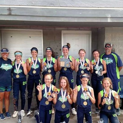 Attack 12U softball team claims state title behind Marysville duo