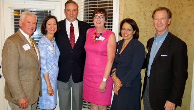 George and Clare Nelson, Dr. Chris and Connie Holoman, Laura and Ed Crawford at reception.