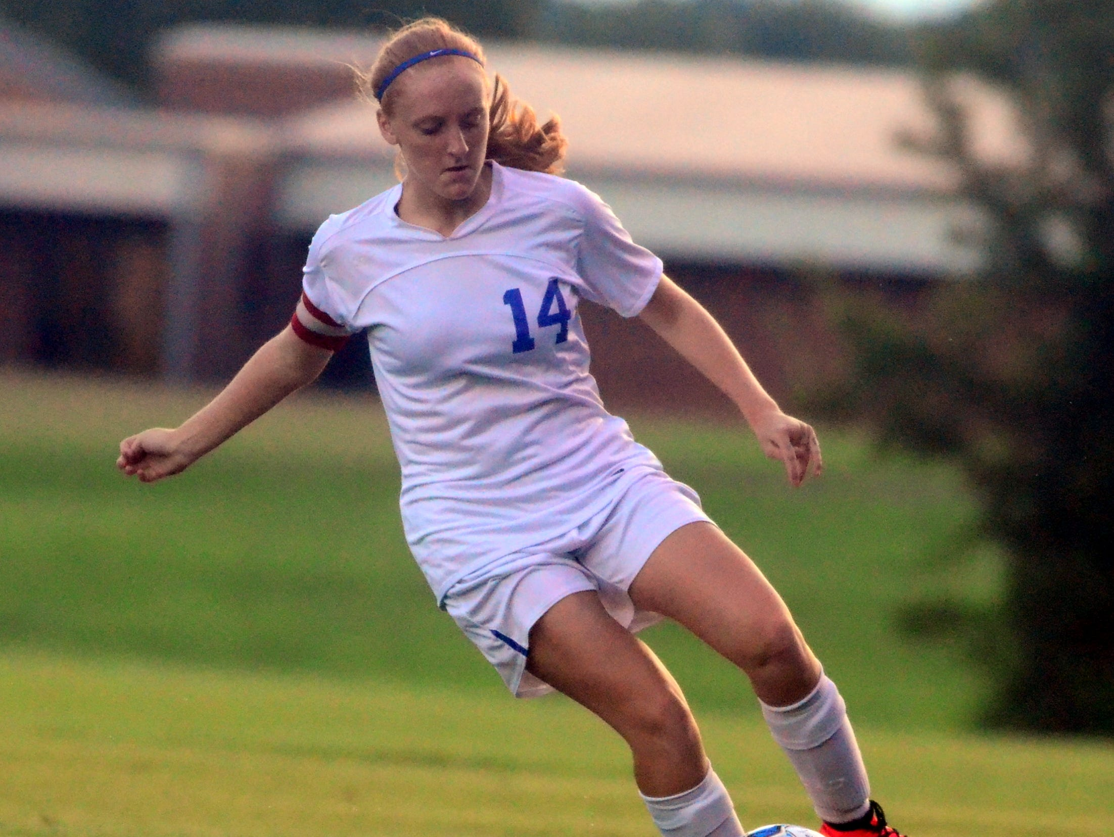 White House High junior Madisson Davis scored one of the Lady Devils' goals in their 3-2 victory over Gallatin on Thursday evening.