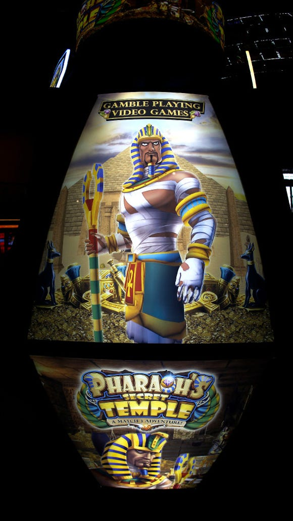Pharaoh's Secret Temple is one of the first video game gambling offerings in North America - so far the games only can be played in Atlantic City at four casinos, including Tropicana.