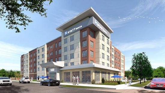 MountainShore Properties' website shows pre-construction underway on this 128-room The Hyatt House hotel in Mt. Pleasant, S.C.