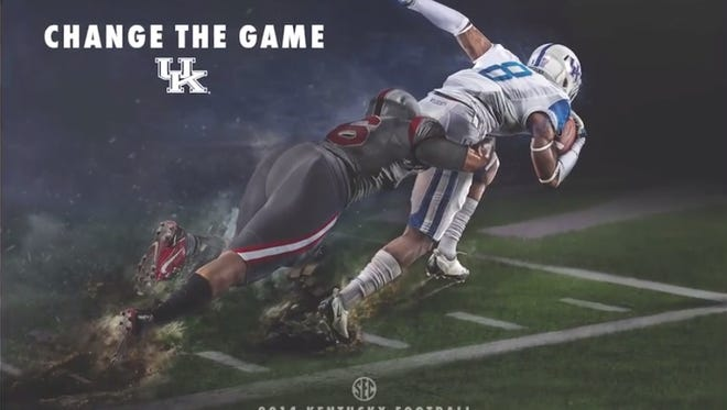 One version of UK's schedule poster for the 2014 season.