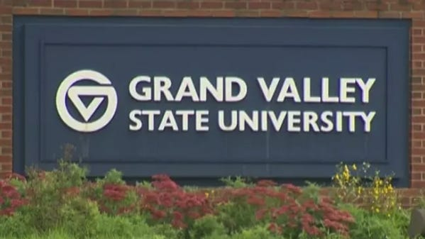 Authorities are investigating after hackers posted racist language and images in a Zoom meeting held by a Grand Valley State University student group.