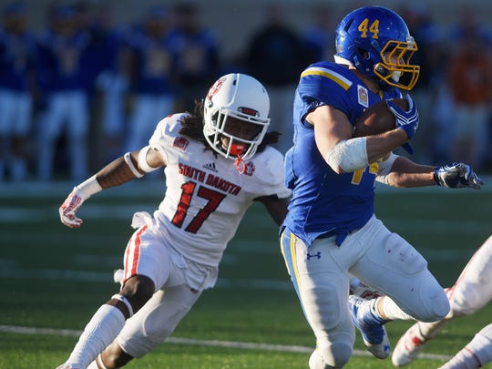 Former USD cornerback Dale Williamson (17) is no longer enrolled at the university.