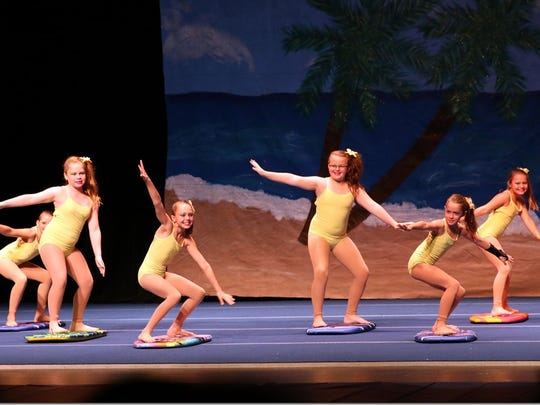 The Junior Entertainers surfing through the holidays in a previous Vero Beach Recreation Department holiday production.