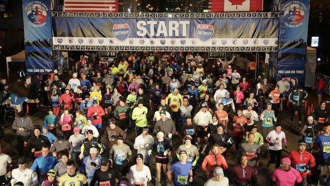 At the 38th Detroit Free Press/Talmer Bank Marathon Sunday Oct. 18, 2015.