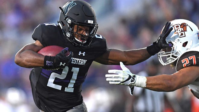 Northwestern tailback Justin Jackson has rushed for 248 yards in 55 carries in three games this season.