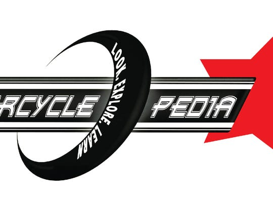 The logo for Motorcyclepedia, a motorcycle museum in Newburgh.