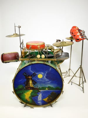 """A selection of items from the exhibit """"Beyond the Beat"""" at the Musical Instrument Museum. The special exhibition features more than 100 drums, almost all from museum's archive."""