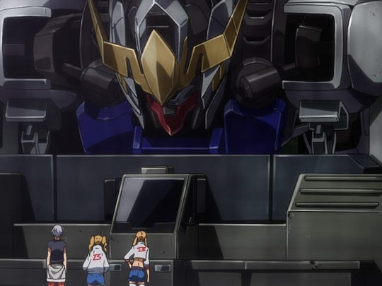 """The Barbatos gets ready for some land upgrades in Gundam Iron-Blooded Orphans Episode 20, """"Brother."""""""