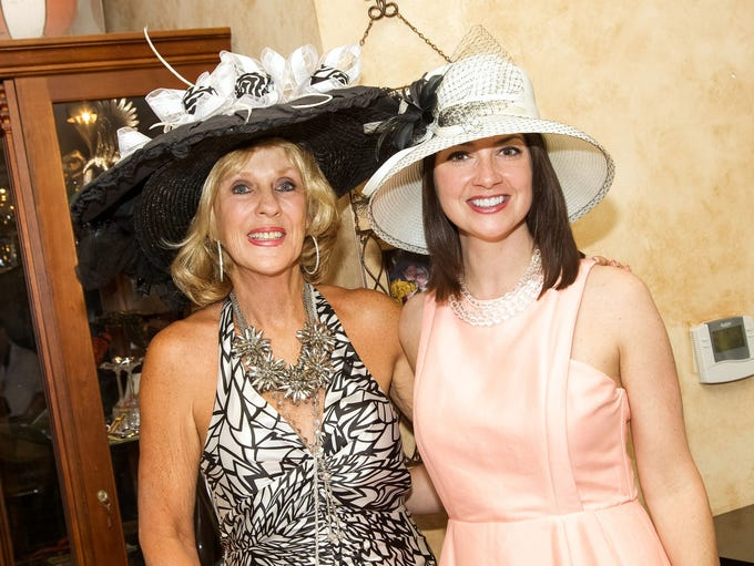 Hostess Susie Wasdin and Jesalyn McCurry enjoy themselves