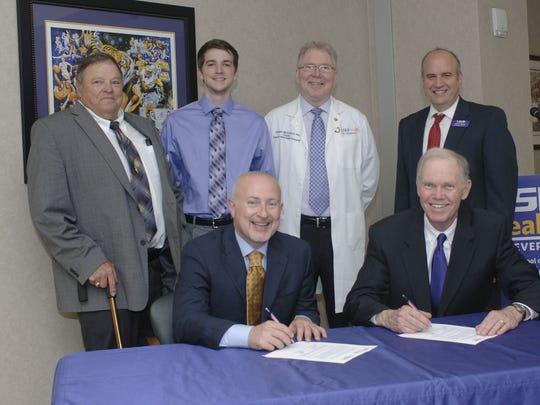 (Back Row): Dr. Dalton Gossett, LSUS Associate Dean,
