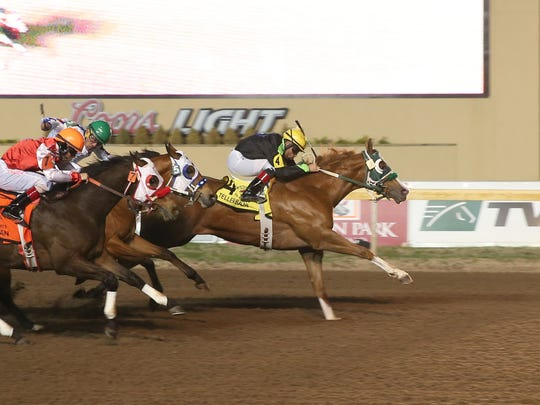 Teller Baja winning Remington Park Oklahoma-bred Futurity