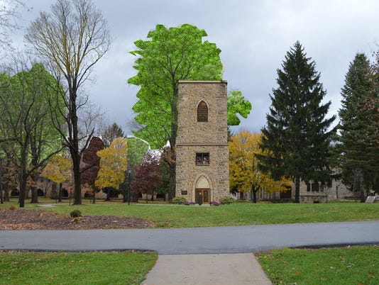 Bell tower rendering