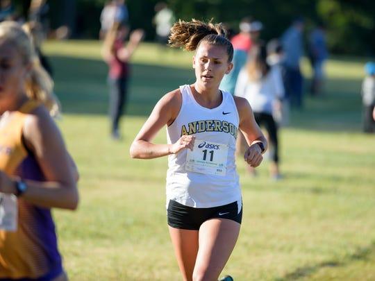 Anderson University cross country athlete Haylee Love