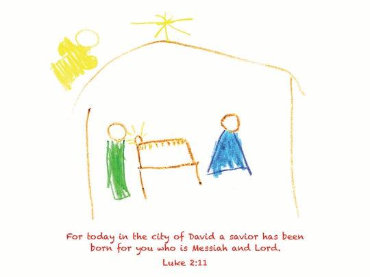 The winning Christmas Card