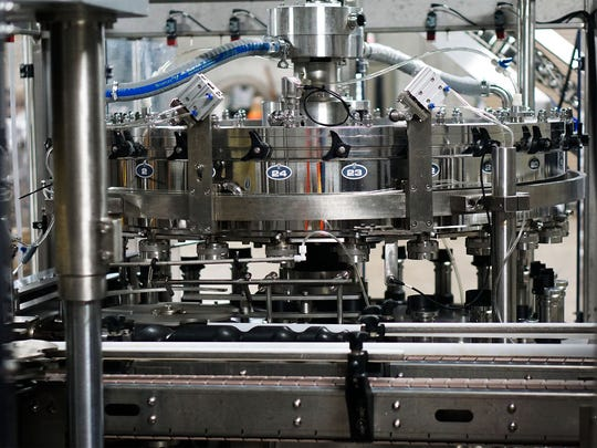 The new canning line at TailGate Beer, which recently