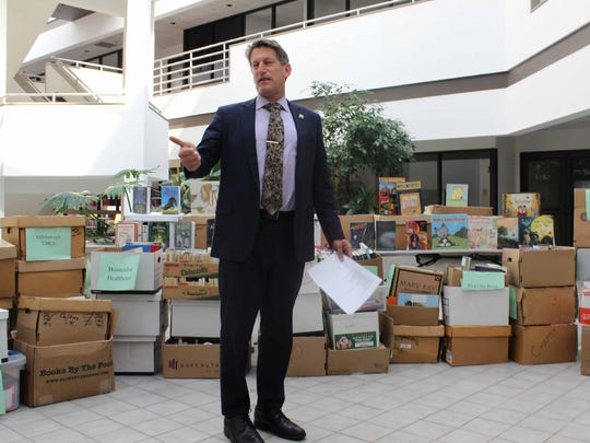 A month-long summer book drive organized by the legislative district office of Assemblyman Andrew Zwicker has donated 4,000 books for local students.