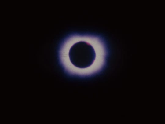 The total eclipse of the sun over Montana on Feb. 26,