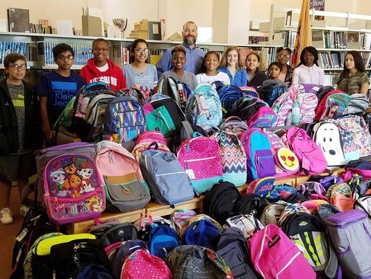 Backpack drive yields thousands of school supplies PHOTO CAPTION