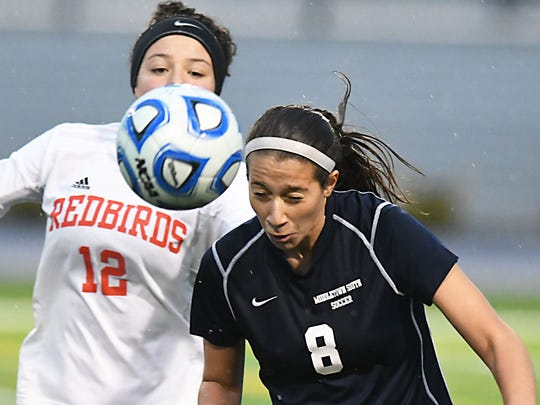 Girls Soccer Group III final between Middletown South and Allentown. (Larry Murphy | For the Press)