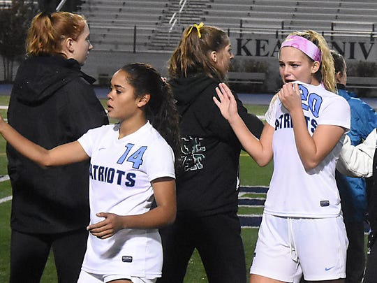 Ridge and Freehold Twp played to a 0-0 tie and are co-champions of group 4 for 2017. Girls Soccer Group 4 final between Freehold Twp and Ridge (Larry Murphy | For the Press)