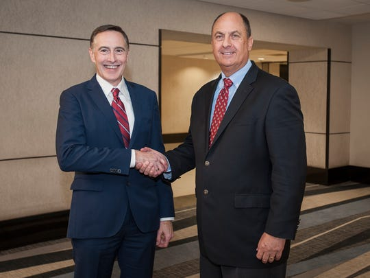 Advocate Aurora announced Wednesday that Jim Skogsbergh, right, will be the sole CEO of the health system. Skogsbergh and Nick Turkal, left, had been co-CEOs since the merger of Advocate Health Care Network and Aurora Health Care.