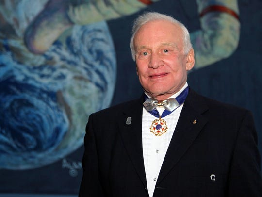 Astronaut Buzz Aldrin, member of the first landing