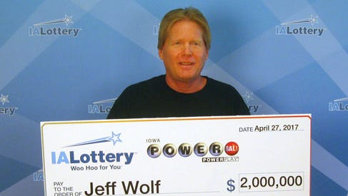 Jeff Wolf of Iowa City claimed the $2 million Powerball prize he won back in July with a ticket purchased at a Cedar Rapids convenience store.
