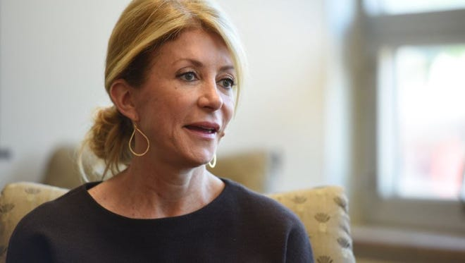 Former Texas state senator and abortion rights advocate Wendy Davis talks with the Argus Leader on Thursday, May 26, 2016.
