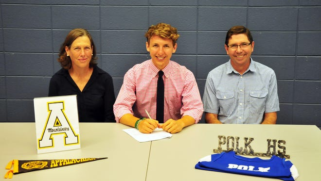 Polk County senior Sean Doyle has signed to run college cross country and track for Appalachian State.