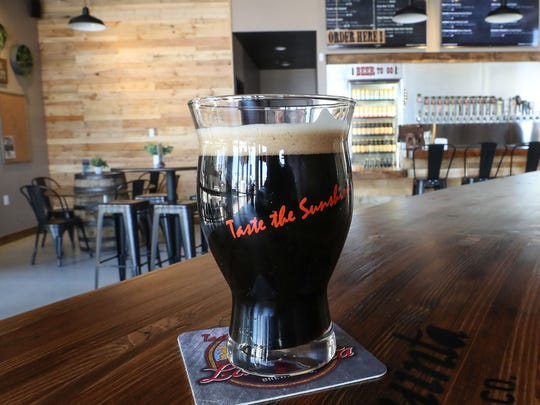 The La Quinta Brewing Company tap room in Palm Springs,