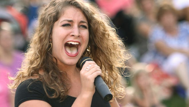 Lexee Longwell gave it her all as a 2012 Livingston Sensation competitor. Tryouts for this year's singing competition continue Thursday in Brighton.