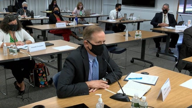 Education Secretary James Peyser spoke Tuesday at the Board of Elementary and Secondary Education's first in-person meeting since February, where members discussed how schools are responding to the pandemic.