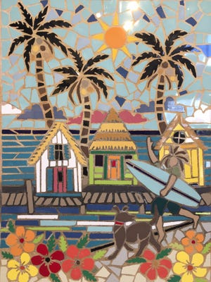 Fun and functional coastal-themed art by Janet Dineen can be viewed and purchased at the Treehouse Art Collective, 309 N. Water Street, Suite D.