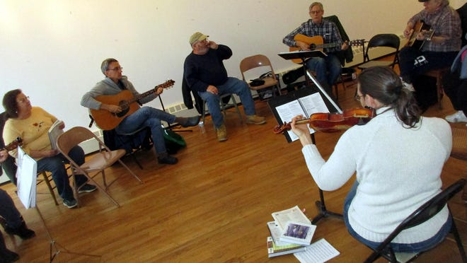 Area musicians gather last January for the monthly Acoustic JAM Sessions at the Earlville Opera House. To help support the EOH and the arts during the coronavirus crisis, visit earlvilleoperahouse.com.