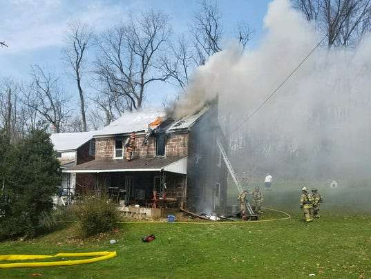 Clearview Road fire in Dover Township