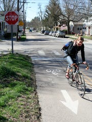 A bike lane on Burlington's South Winooski Avenue is pictured in this 2007 Free Press file photo.