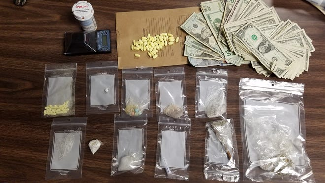 Drugs allegedly found in the possession of Antonio Holt.