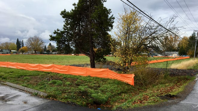 The site of a future subdivision project at 4560 Center St. NE in Salem, Oregon, on Nov. 16, 2017.
