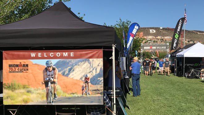 Ironman Village is open to athletes and the public. It's a place to buy gear, get information and meet triathletes. It is at at 50 S. Main St. in downtown St. George.