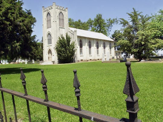 Trinity Episcopal Church in Cheneyville before its renovations in the early 2000s